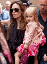 Angelina Jolie and Vivienne Jolie-Pitt