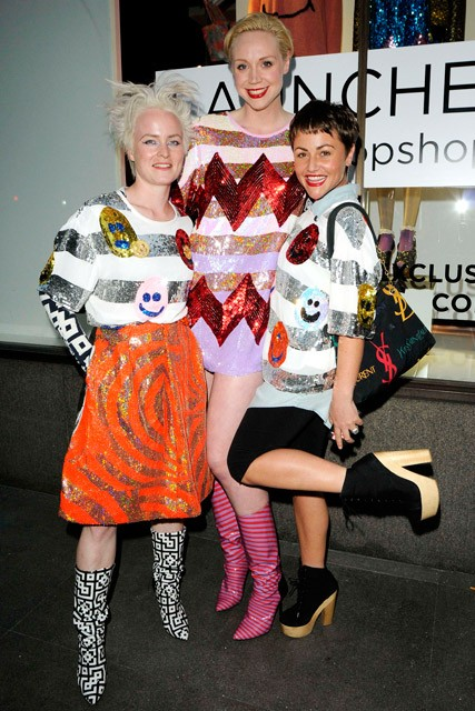 Louise Gray and Jaime Winstone at the Louise Gray for Topshop launch party in London