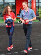Prince William and Kate Middleton at the Paralympics