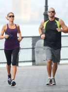 Heidi Klum and bodyguard
