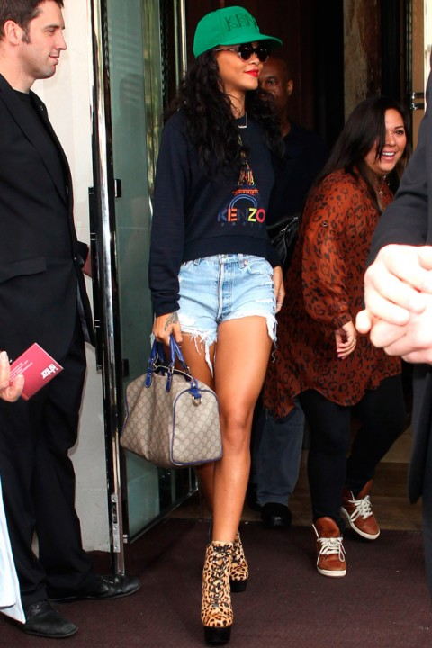 Rihanna leaving The Park Lane Hotel in London