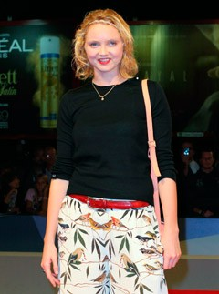 Lily Cole at the Venice Film Festival 2012