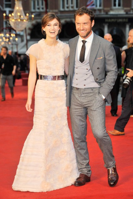 Jude Law and Keira Knightley at the Anna Karenina premiere