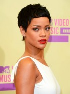 Rihanna shows off new cropped hairstyle at the MTV Video Music Awards 2012 in Los Angeles