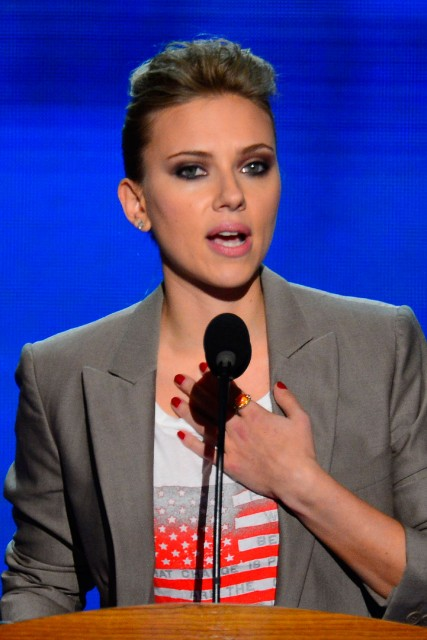 scarlett johansson, barack obama, democratic national convention