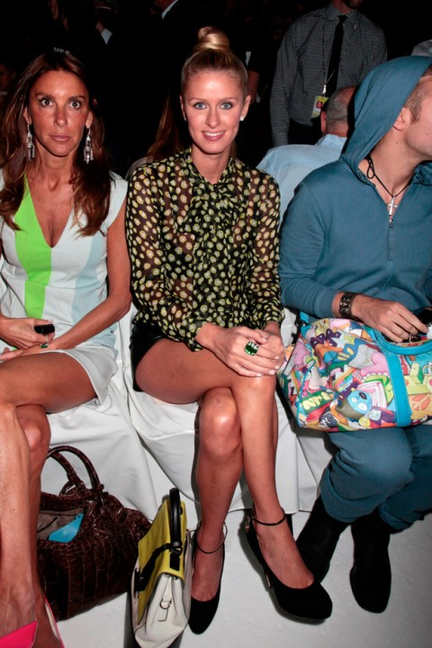 Nicky Hilton at New York Fashion Week spring/summer 2013