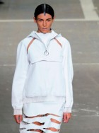 Liberty Ross modelling in the Alexander Wang spring/summer 2013 show in New York