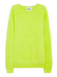 Acne Angora-Blend Acid Lime Sweater