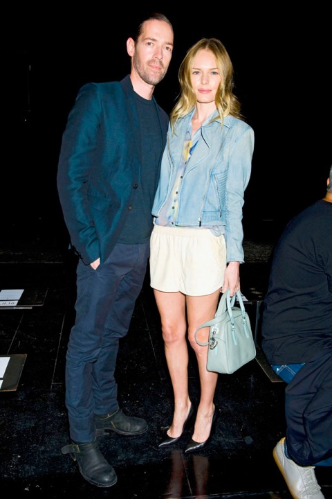 Michael Polish and Kate Bosworth at New York Fashion Week spring/summer 2013