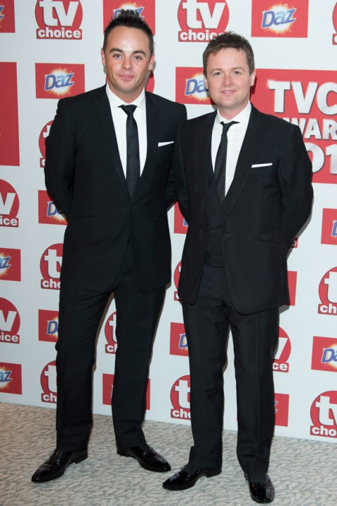 Ant and Dec at the TV Choice Awards 2012