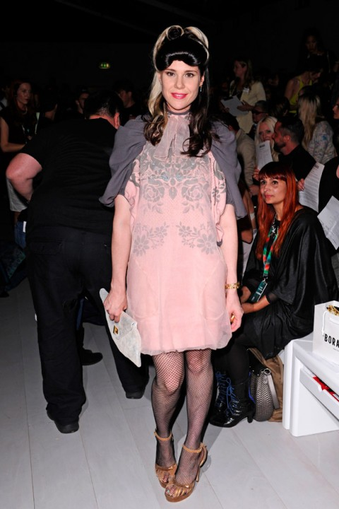 Kate Nash at London Fashion Week spring/summer 2013