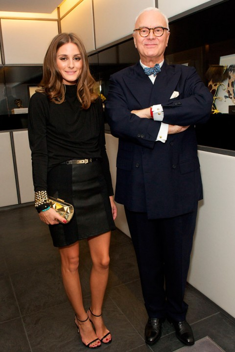 Olivia Palermo and Manolo Blahnik at London Fashion Week spring/summer 2013