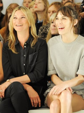 Kate Moss and Alexa Chung at Mulberry's spring/summer 2013 London Fashion Week show