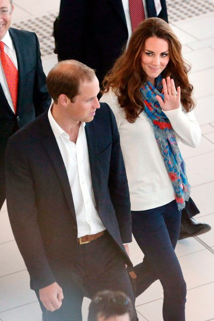 Prince William and Kate Middleton return home from Diamond Jubilee tour