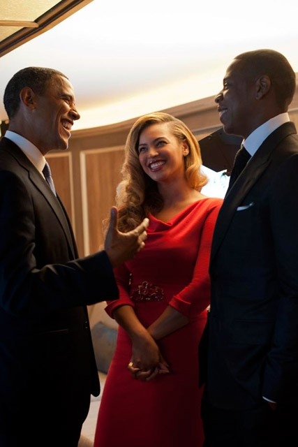 Beyonce, Jay-Z and Barack Obama