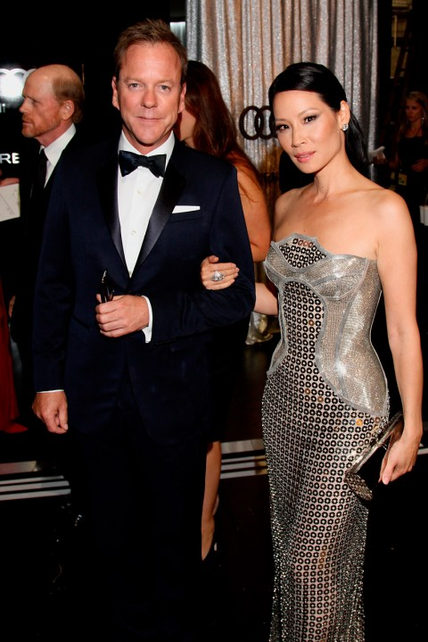 Kiefer Sutherland and Lucy Liu - Emmy Awards 2012: After-Parties