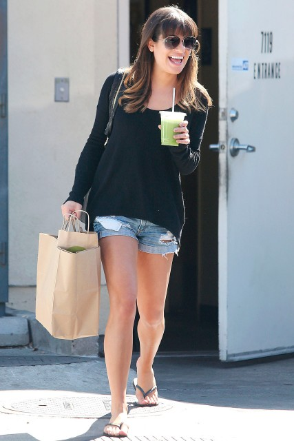 Lea Michele out and about in Los Angeles