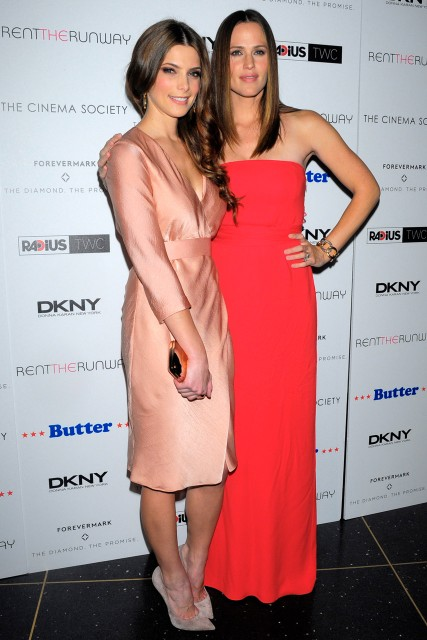 Ashley Greene and Jennifer Garner at the New York premiere of Butter