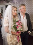 Caroline Flack and Louis Walsh X Factor