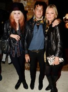 Alison Mosshart, Jamie Hince and Kate Moss 