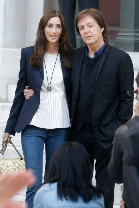 Nancy Shevell and Paul McCartney at Paris Fashion Week spring/summer 2013