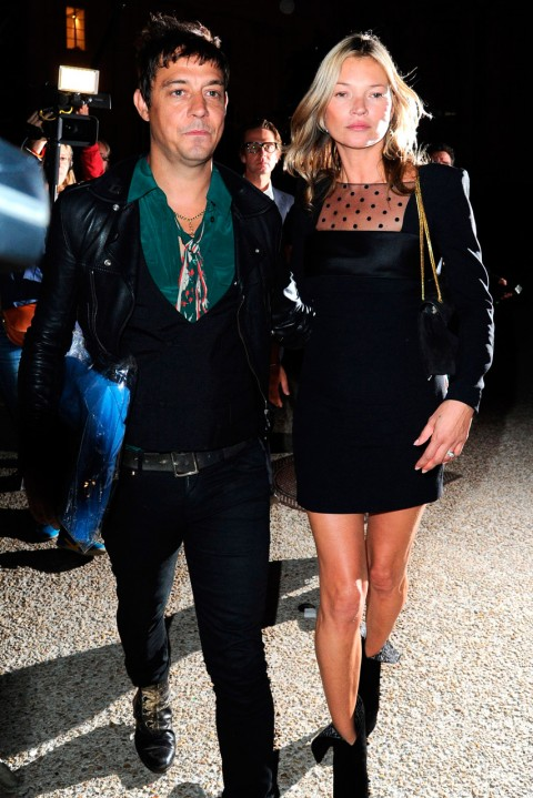 Jamie Hince and Kate Moss at Paris Fashion Week spring/summer 2013