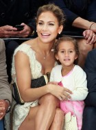 Jennifer Lopez and daughter Emme at Chanel