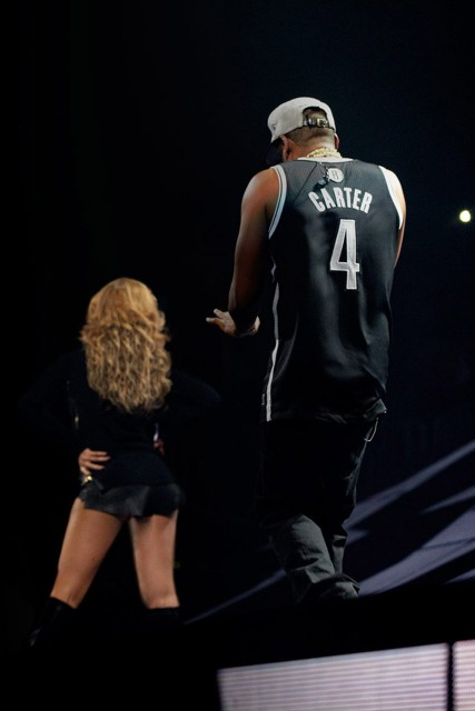 Beyonce Knowles and Jay-Z at the Barclays Centre