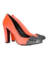 Reiss Olympia encrusted toecap pump