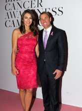 Liz Hurley cosies up to Shane Warne at Estee Lauder Breast Cancer Awareness Campaign event in London