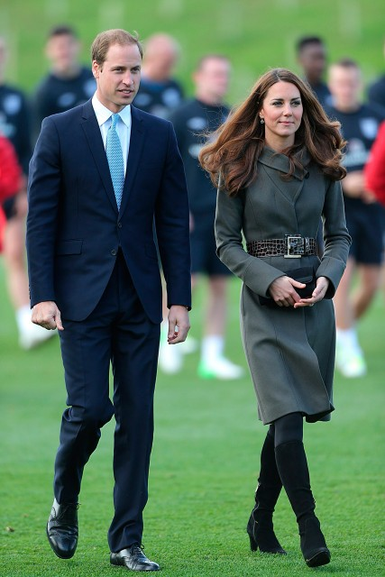 Kate Middleton and Prince William at St George's Park