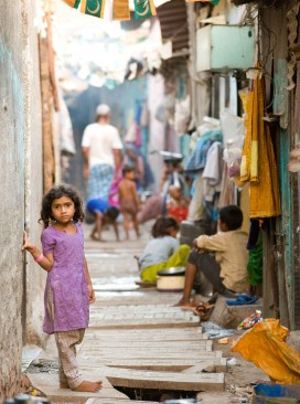 Girl in slum
