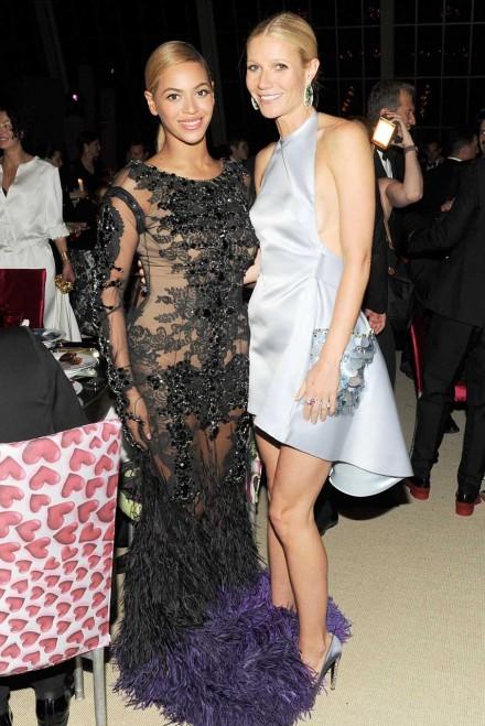 Beyonce Gwyneth 2014 Beyonce Attends Gwyneth