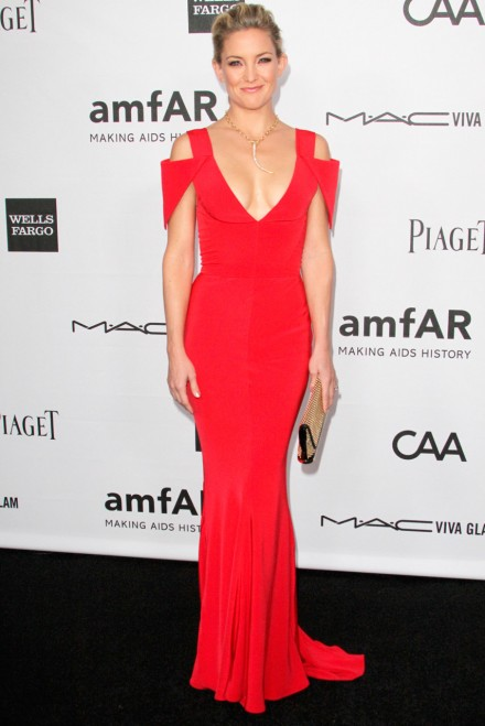 Kate Hudson at the amFar fundraising gala