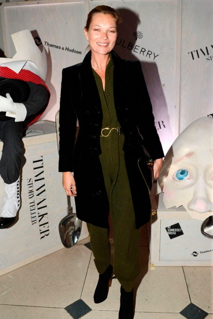 Kate Moss the launch of the Tim Walker Story Teller exhibition at Somerset House