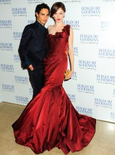Zac Posen and Coco Rocha at Bergdorf Goodman's 111th anniversary party in New York