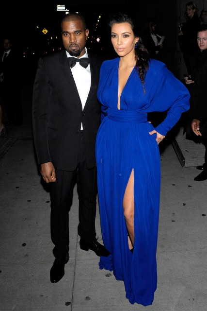 Kim Kardahian and Kanye West at The Angel Ball