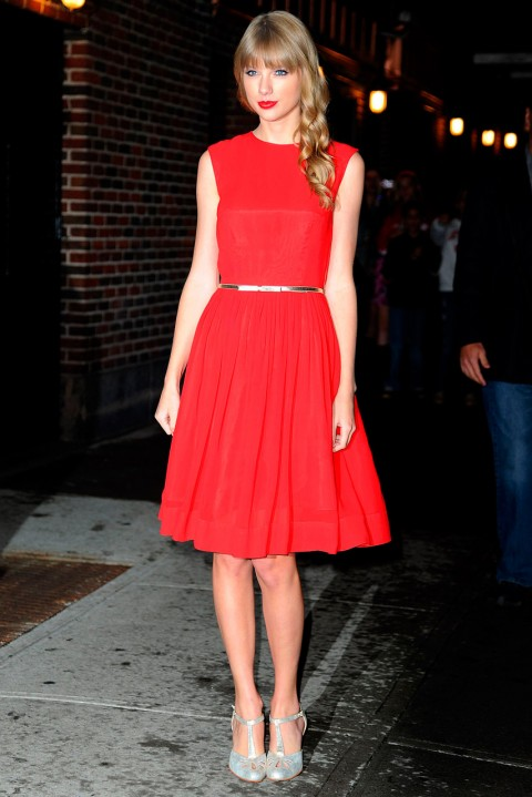 Taylor Swift outside a TV studio in New York