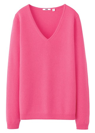 Uniqlo V-neck jumper, £79.90