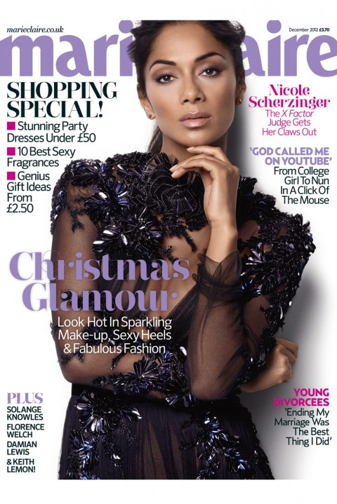 Nicole Scherzinger for December Marie Claire