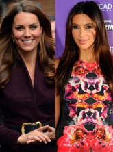 Kate Middleton Kim Kardashian