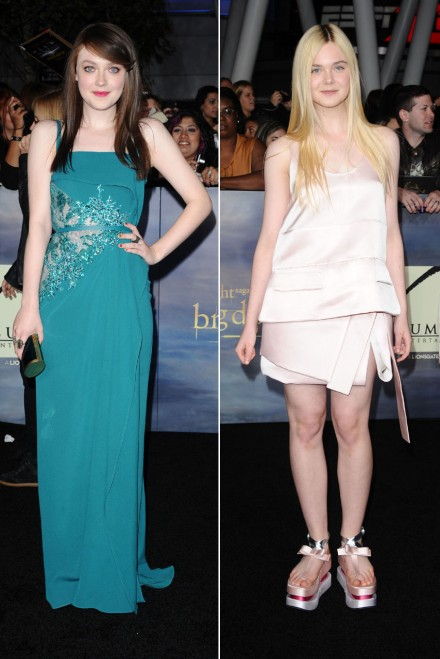 Dakota Fanning Then And Now 2013 dakota and elle fanning on the ...