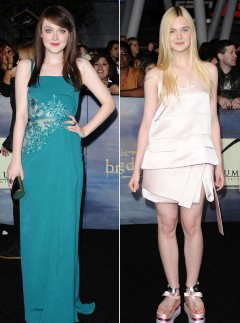 Dakota Fanning - Elle Fanning - Twilight Breaking Dawn Part 2 premiere - Celebrity Style - Marie Claire - Marie Claire UK