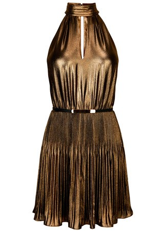 Oasis pleated halter neck dress, £65