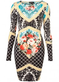 Topshop baroque print dress, 36