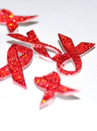 National AIDS Trust Red Ribbon Brooch