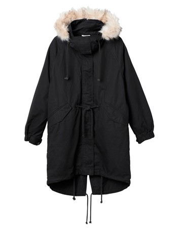 Monki parka coat, £70