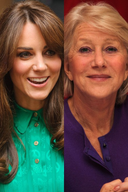 Kate Middleton Helen Mirren