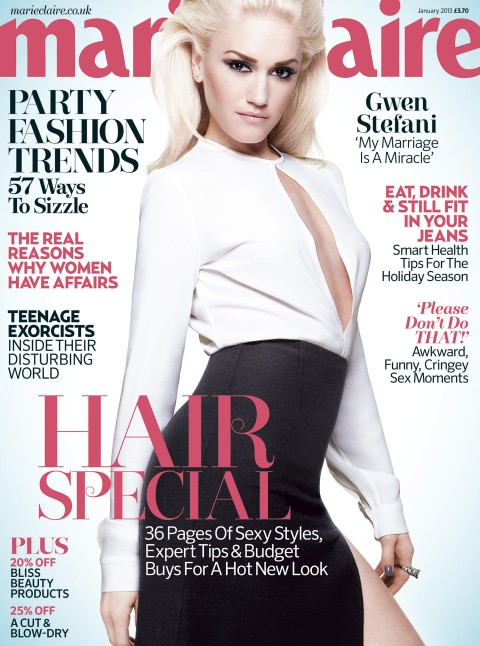 Gwen Stefani - January Marie Claire 2013