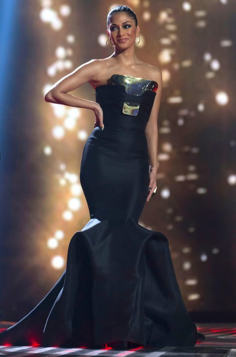 Nicole Scherzinger on the X Factor 2012 week 10 for fashion